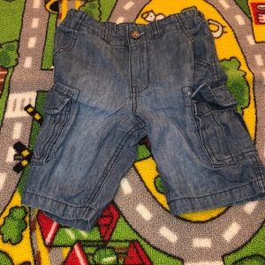 Blue jeans cargo shorts